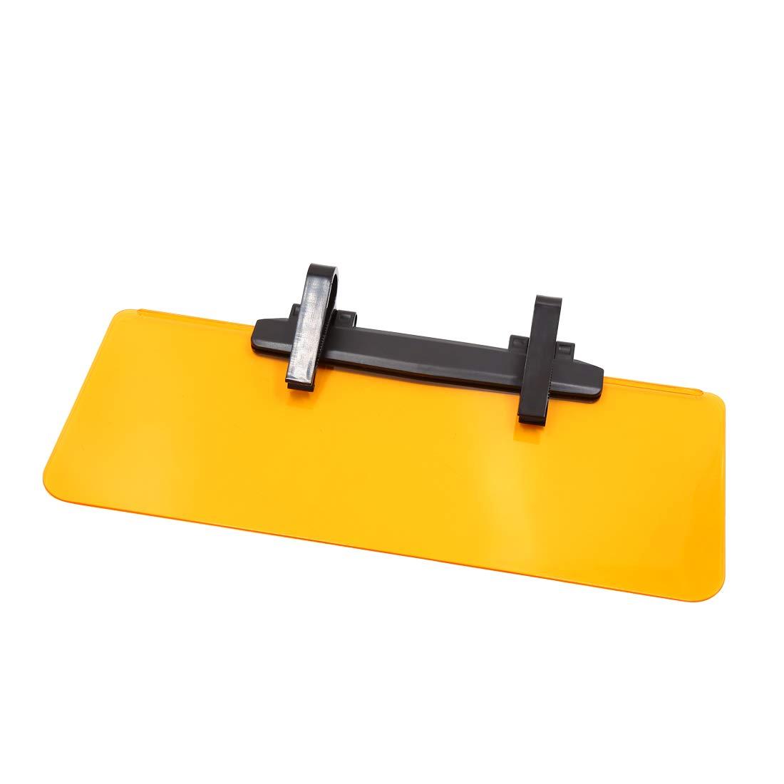 uxcell Yellow Adjustable Anti-Glare Sun Visor Car Flip Down Day Night Vision Sunshield