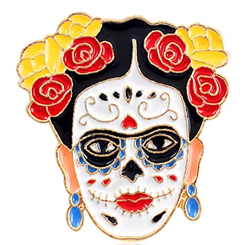 Flairs New York Premium Handmade Enamel Lapel Pin Brooch Badge ([Frida Kahlo] Day of the Dead, 1 -