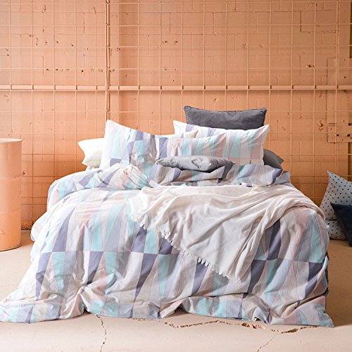 Wake In Cloud - Geometric Duvet Set, 100% Cotton