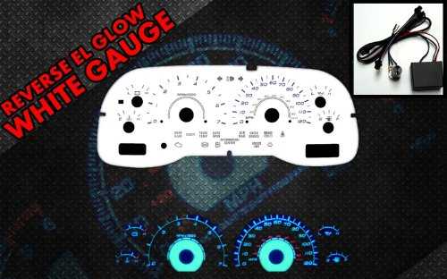 Glow White Face Reverse Gauges - 2