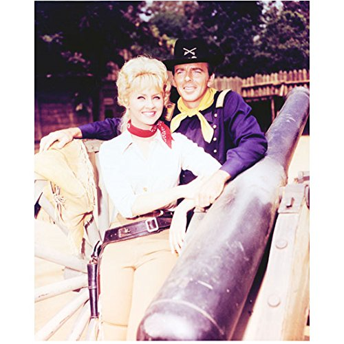 F Troop With Ken Berry As Capt  Wilton Parmenter With Melody Patterson As Wrangler Jane Smiling 8 X 10 Photo