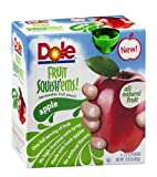 Dole Fruit Squish'ems! Squeezable Fruit Pouch Apple 12.8 OZ (Pack of 24)