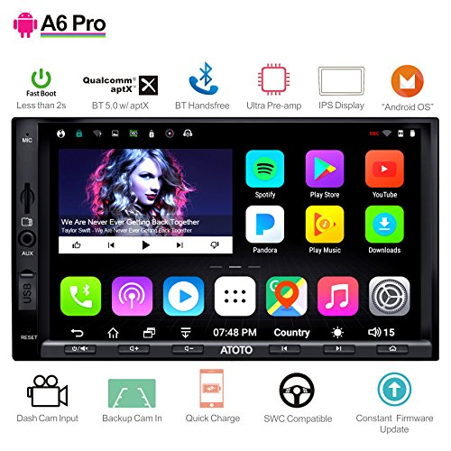 ([NEW]ATOTO A6 Pro A6Y2721PRB 2DIN Android Car Navigation Stereo - Dual Bluetooth w/aptX - Fast Phone Charge/Ultra Preamplifier - In dash Entertainment Multimedia Radio,WiFi,support 256G SD &more)