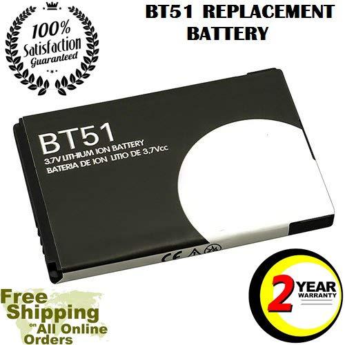 Replacement Battery BT51 for Rizr Z6tv Q V190 V323 V360 V235 W315 KRZR K1m Fire V325 Rokr Z6m V361 W385 W510 W755 W395 W380 W220 V237 VE465 W375 Rival A455 V325I W766 Entice W260G VE440 (Battery Standard W385 Motorola)