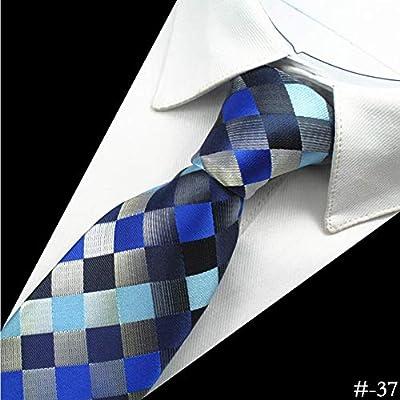 ZHENZHIA Corbata Hombres de Seda Neck8 Cm Corbata de Paisley de la ...