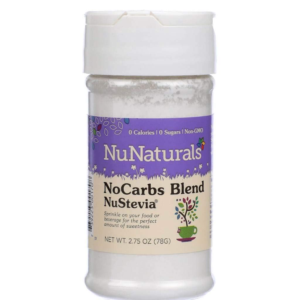 NuNaturals NoCarb Blend Powder All Purpose Natural Sweetener, Sugar-Free, Zero Calorie (2.75 oz) by NuNaturals (Image #2)
