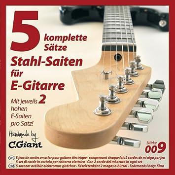 C. GIANT conjuntos de cuerdas de guitarra eléctrica - 5: Amazon.es: Instrumentos musicales