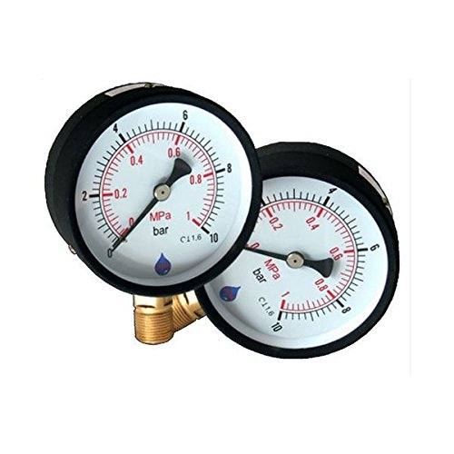 63mm 16 BAR Side Entry Dial Pressure Gauge 1/4' BSP Manometer AIM 63UB4PS