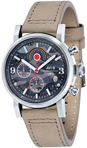 AVI-8 Mens Hawker Hurricane Watch - Beige
