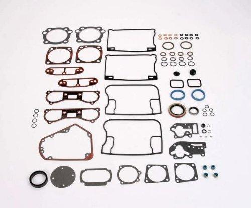 [James Gaskets Complete Gasket Kit with Metal Base Rocker Cover Gaskets for Harl] (Complete Gasket Set Part)