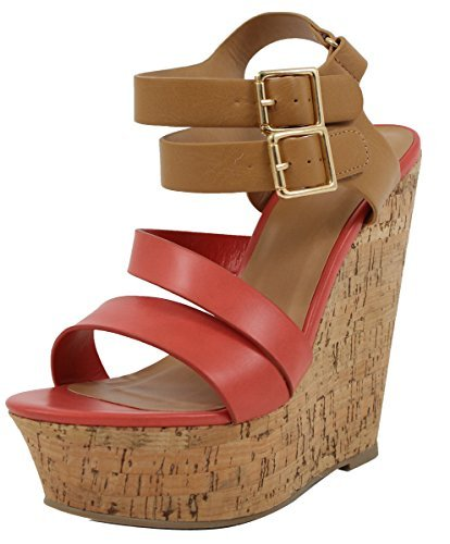 soda cork heels wedges - 2