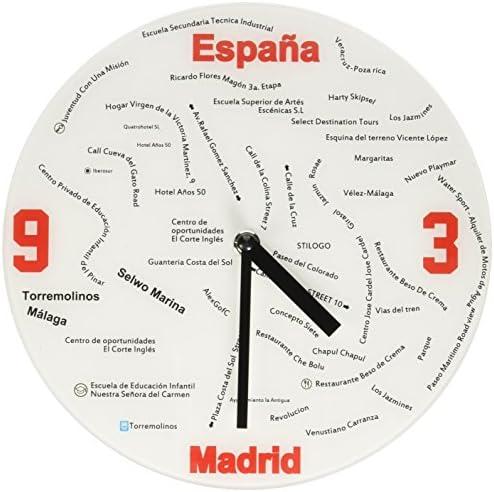 Refelx Non-Ticking Silent Acrylic Wall Clock, Large, Design, Don Quixote
