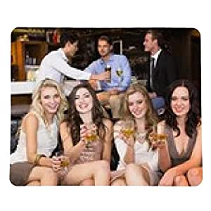 alfombrilla de ratón bastante amigos que tienen una copa juntos - rectangular - 23cm x 19 cm
