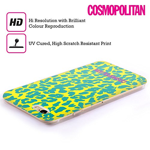 Official Cosmopolitan Blue Green Cheetah Animal Skin Patterns Soft Gel Case for Apple iPhone 5c
