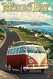 Morro Bay, CA - Coastal Drive (9x12 Art Print, Wall Decor Travel Poster)