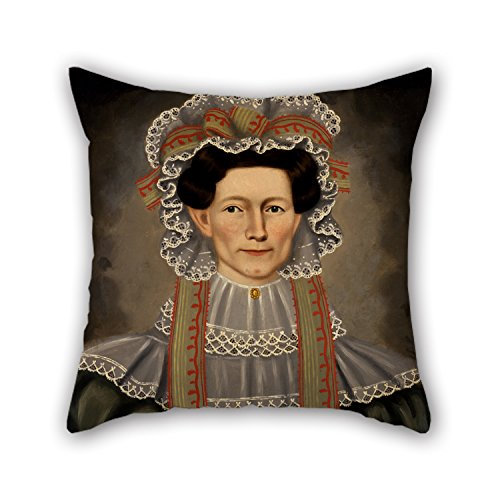 [Uloveme Oil Painting Erastus Salisbury Field - Lady Of Squire Williams House Throw Pillow Covers 20 X 20 Inches / 50 By 50 Cm Best Choice For Kids Room,car,wife,kids Room,family,dance Room With] (Squire Bunny Costume)