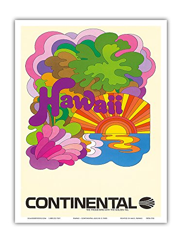 hawaii-continental-airlines-psychedelic-art-vintage-airline-travel-poster-c1960s-hawaiian-master-art