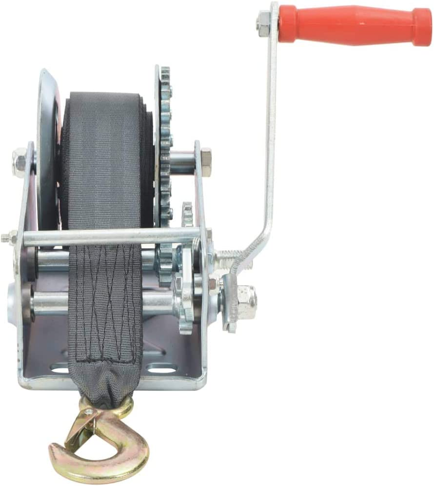 Nishore Treuil Manuel avec Sangle pour Remorquer de Camion et Remorque 40 x 29,5 x 17 cm 2 500 LB Capacit/é 1 130 kg L x l x H
