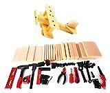 childrens wood building kit - PowerTRC Kids DIY Workshop Kit with Faux Wood & Tools