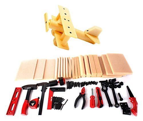 Liberty Imports DIY Deluxe Wood Kids Workshop Kit with Tools by Liberty Imports