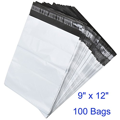 BESTEASY 9'' x 12'' White Poly Mailers Envelopes Bags Self Sealing Shipping Bags (100 Bags) Photo #1