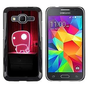 Smartphone Rígido Protección única Imagen Carcasa Funda Tapa Skin Case Para Samsung Galaxy Core Prime SM-G360 Cute Pink / STRONG