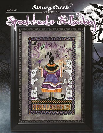Spooktacular Halloween (Leaflet 373) Cross Stitch Chart and Free Embellishment]()