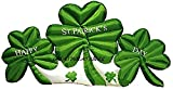 St Patricks Day inflatable Giant 12 ft wide X 5 ft tall Shamrock Cluster Outdoor Holiday Yard Prop Decoration