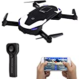 IDEA8 Selfie Drone Wifi 720P HD Camera FPV Live Video,Mini RC Storage in Quad copters, 2.4Ghz 6 Axis,Follow me,Altitude Hold Drone Toy for Kids&Beginners and 2 BATTERIESBonus Battery
