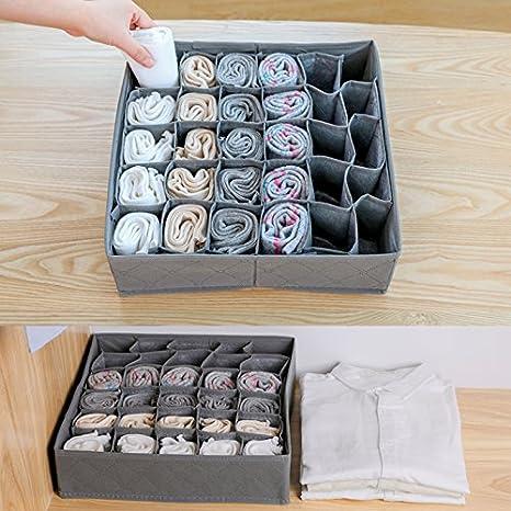 Marca nuevo 30 celdas caja de almacenaje plegable extraíble caja para ropa interior/calzoncillos/calcetines/paño para caja: Amazon.es: Bricolaje y ...