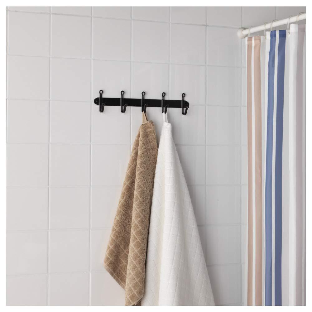 IKEA SVARTSJON negro 5 Gancho perchero toallas de ropa ...