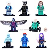 Marvel X-Men Apocalypse 24 pcs/Lot Professor Magneto X Archangel X-Men Minifigures Building Blocks Compatible with Legoe