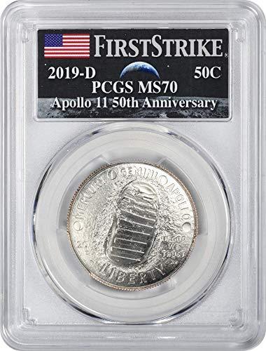 (2019 D Apollo 11 50th Anniversary Commemorative Half Dollar, First Strike, Earth Rising Label MS70 PCGS)