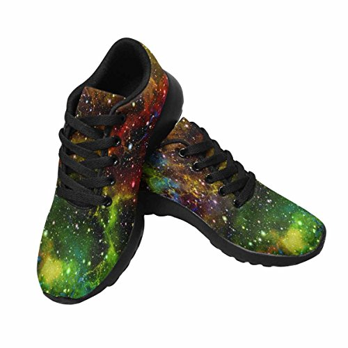 Interestprint Brillant Coloré Univers Femmes Jogging Running Baskets Léger Aller Facile Chaussures De Marche Multi 1