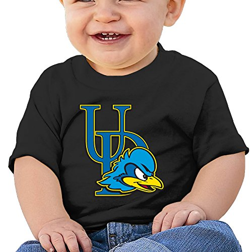 DVPHQ Baby's Delaware Fightin' Blue Hens Logo University Of Delaware T Shirts Little Boy's & Girl's Black Size 24 Months (6-24 Months)