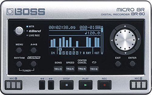 Boss Micro BR BR-80 Digital Recorder with free BA-PC15 Earphones/Guitar Cable Set