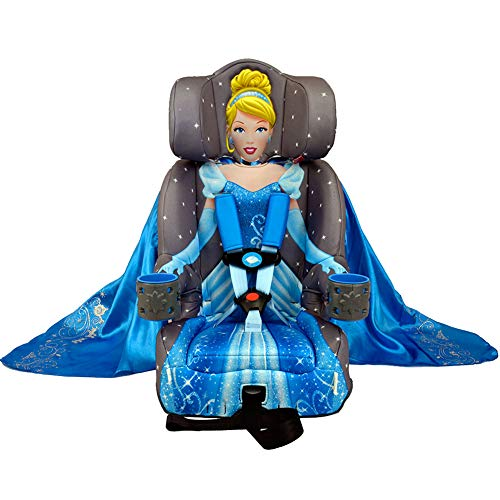 KidsEmbrace 2-in-1 Harness Booster Car Seat, Disney Princess Cinderella, Gray