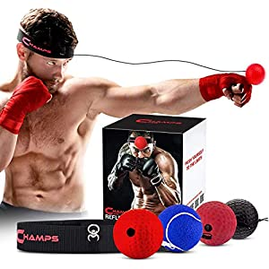 Well-Being-Matters 51khZd1YTlL._SS300_ CHAMPS MMA Boxing Reflex Ball -Improve Reaction Speed and Hand Eye Coordination Training Boxing Equipment for Training…