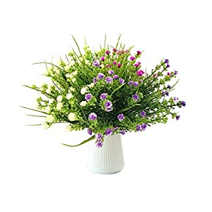 Huhu Ma 6 PCS Babys Breath Artificial Flowers for Home Garden Wedding Party Decoration, Match with Artificial Green Grass. 23