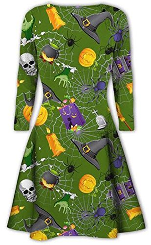 Damen Halloween gedrucktes Kleid für Swing Night amp; Dress ...