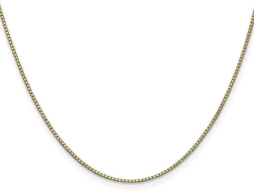 Brilliant Bijou 14k Yellow Gold 1.0mm Box Chain Bracelet