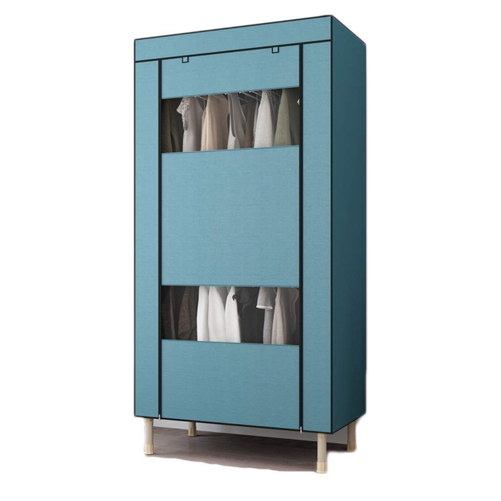 XSWZAQ Simple Wardrobe Student Single Assembly Hanger Simple Modern Dormitory Storage Cloth Wardrobe Closet (Size: 190X85X50cm) (Color : B) by XSWZAQ