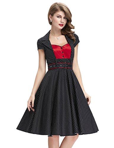 Belle-Poque-Womens-Cotton-Vintage-Swing-Dresses