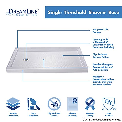 single threshold shower base dlt1132320 amazoncom