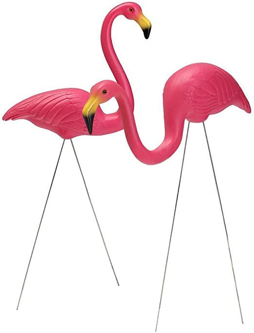 INTERHOME UN PAR Flamingo Decoraciones DE Jardin: Amazon.es: Jardín