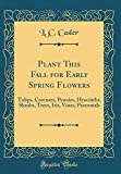 Amazon / Forgotten Books: Plant This Fall for Early Spring Flowers Tulips, Crocuses, Peonies, Hyacinths, Shrubs, Trees, Iris, Vines, Perennials Classic Reprint (L C Casler)