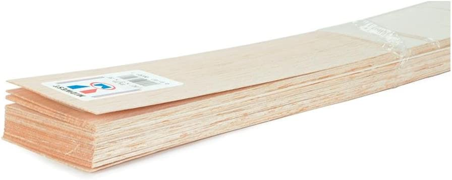 """3//4 INCH. 3/"""" BALSA WOOD SHEET VARIOUS LENGTHS AND THICKNESS 1//32 INCH"""