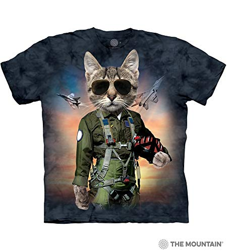 The Mountain Tom Cat Adult T-Shirt, Blue, Large