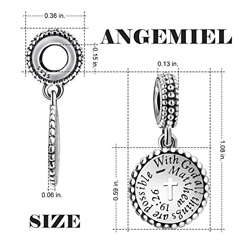 Angemiel 925 Sterling Silver Vintage Charms With God All