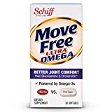 Move Free Ultra Omega, 30 softgels - Joint Health Supplement with Omega-3 Krill Oil and Hyaluronic Acid (Pack of 6)